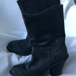 Fiorentini  Baker Shoes - Fiorentini  Baker Gray Distressed Suede Boots 6 36